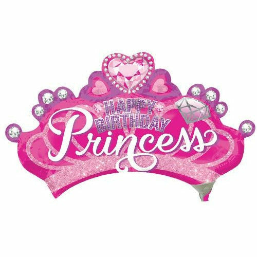 "128 Princess Happy Birthday Jumbo 32"" Mylar Balloon"