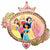 "117 Princess Once Upon a Time Jumbo 34"" Mylar Balloon"