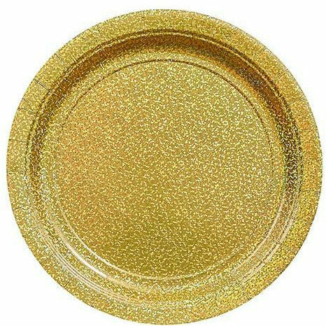 Prismatic Gold Lunch Plates 8ct