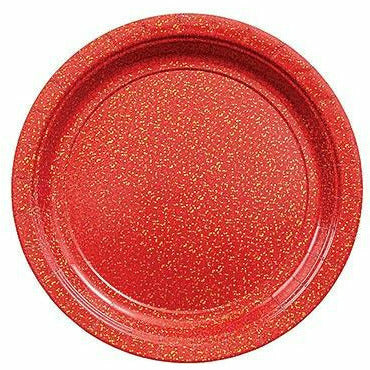 Prismatic Red Dessert Plates 8ct