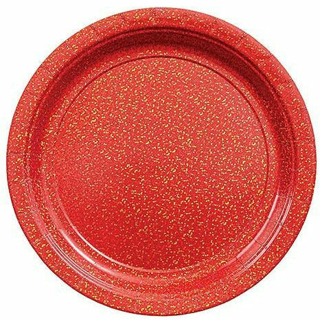 Prismatic Red Lunch Plates 8ct