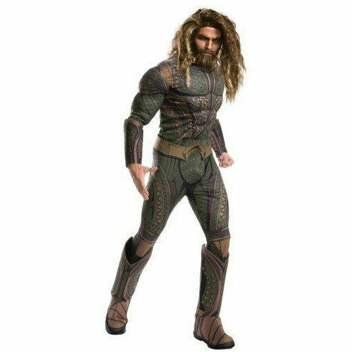 Justice League Mens Deluxe Padded Armor Aquaman Costume