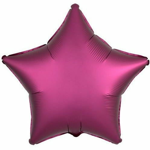 "005 Pomegranate Luxe Star 19"" Mylar Balloon"