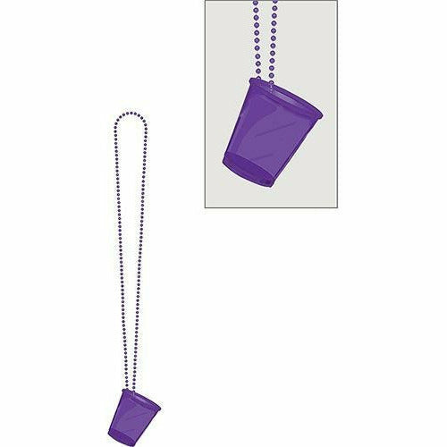 Purple Shot Glass Bead Necklace