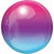"076 Purple & Blue Ombre Orbz 16"" Mylar Balloon"