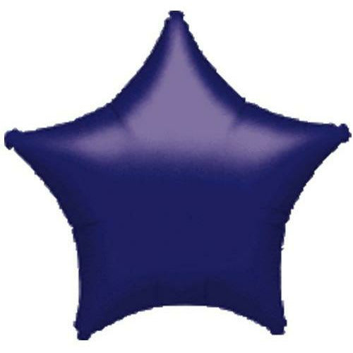 "017 Purple Metallic Star 19"" Mylar Balloon"