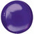 "086 Purple Orbz 16"" Mylar Balloon"