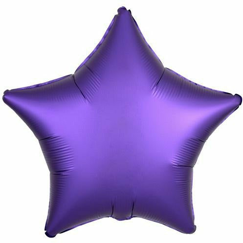"006 Purple Royale Luxe Star 19"" Mylar Balloon"