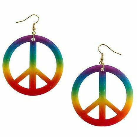 Rainbow Peace Sign Earrings
