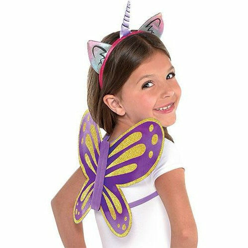 Rainbow Butterfly Unicorn Kitty Costume Accessory Kit
