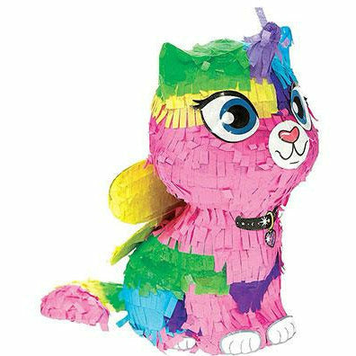Rainbow Butterfly Unicorn Kitty Pinata Decoration