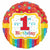 "484 Rainbow 1st Birthday 17"" Mylar Balloon"