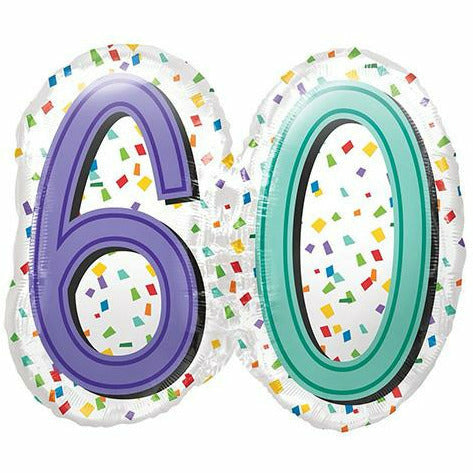 "D010 Big 60 Happy Birthday Jumbo 25"" Mylar Balloon"