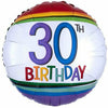 "B007 Rainbow 30th Birthday 17"" Mylar Balloon"
