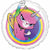 "*A011 Rainbow Butterfly Unicorn Kitty 17"" Mylar Balloon"
