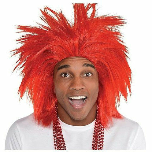 Red Crazy Wig