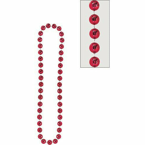 Red Jumbo Bead Necklace