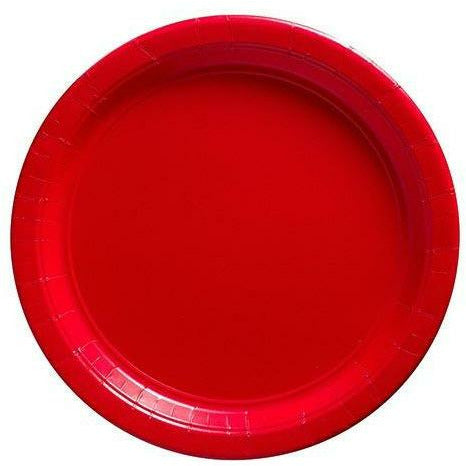 Red Paper Lunch Plates 20ct