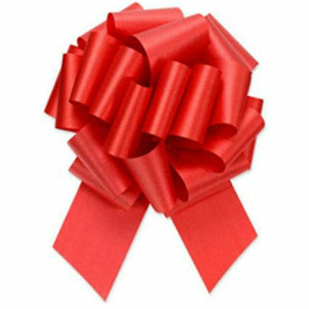 Red Pull Bow 8in