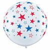 "Red and Blue Stars 36"" Latex Balloon"