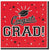 Red Congrats Grad Lunch Napkins 36ct
