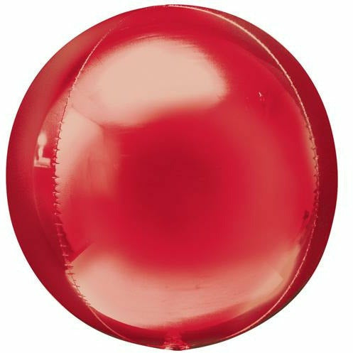 "085 Red Orbz 16"" Mylar Balloon"