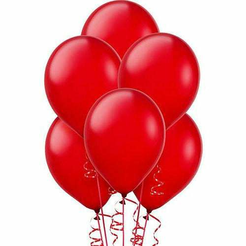 Red Pearl Latex Balloons 15ct, 12in