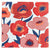 Red Poppy Lunch Napkins 16ct