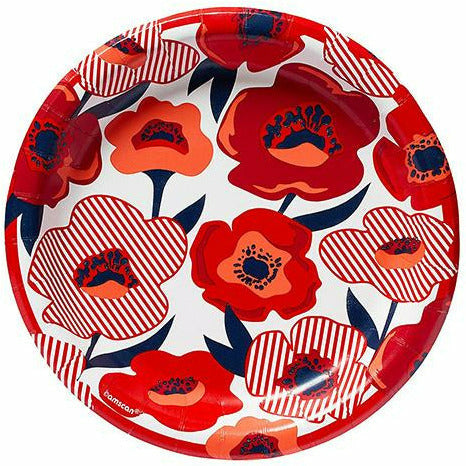 Red Poppy Lunch Plates 8ct