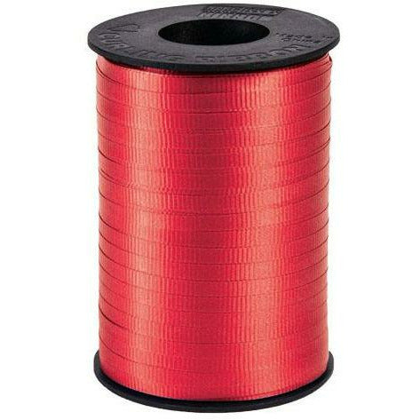 "Red Curling Ribbon 3/16"" x 500 Yards"