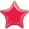 "019 Red Metallic Star 19"" Mylar Balloon"