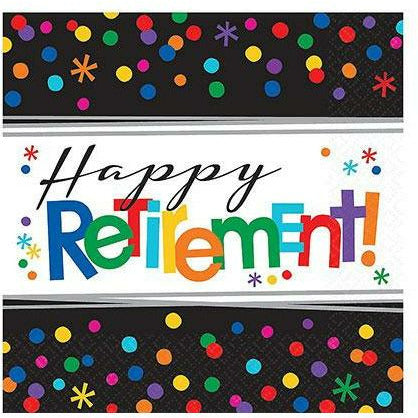Happy Retirement Celebration Lunch Napkins 16ct