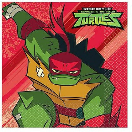 Rise of the Teenage Mutant Ninja Turtles Lunch Napkins 16ct