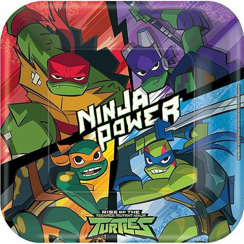 Rise of the Teenage Mutant Ninja Turtles Lunch Plates 8ct