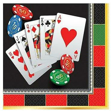 Roll the Dice Casino Beverage Napkins 16ct