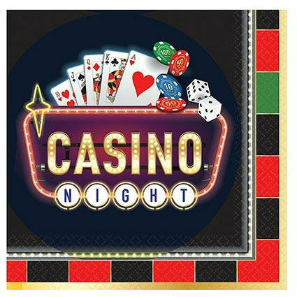 Roll the Dice Casino Lunch Napkins 16ct