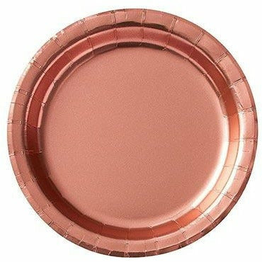 Metallic Rose Gold Dessert Plates 8ct