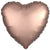 "028 Rose Copper HX Luxe Heart 19"" Mylar Balloon"