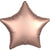 "003 Rose Copper Luxe Star 19"" Mylar Balloon"