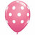 "White Polka Dots Rose 11"" Latex Balloon"