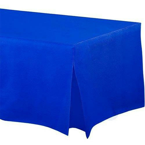 Royal Blue Flannel-Backed Vinyl Fitted Table Cover