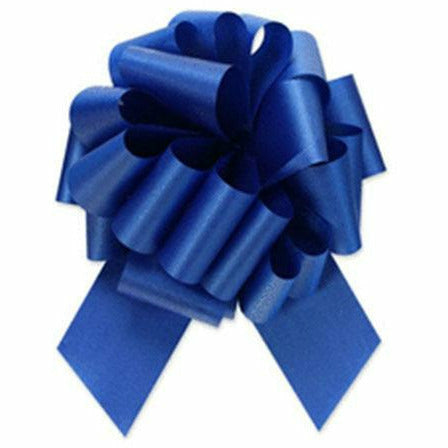 Royal Blue Pull Bow 8in