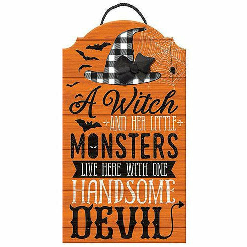 Rustic Family Halloween Easel Sign