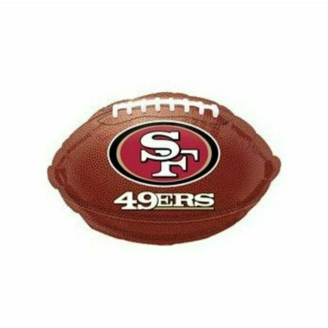 "NFL San Francisco 49ers Football 17"" Mylar Balloon"