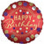"456 Satin Red Happy Birthday 18"" Mylar Balloon"