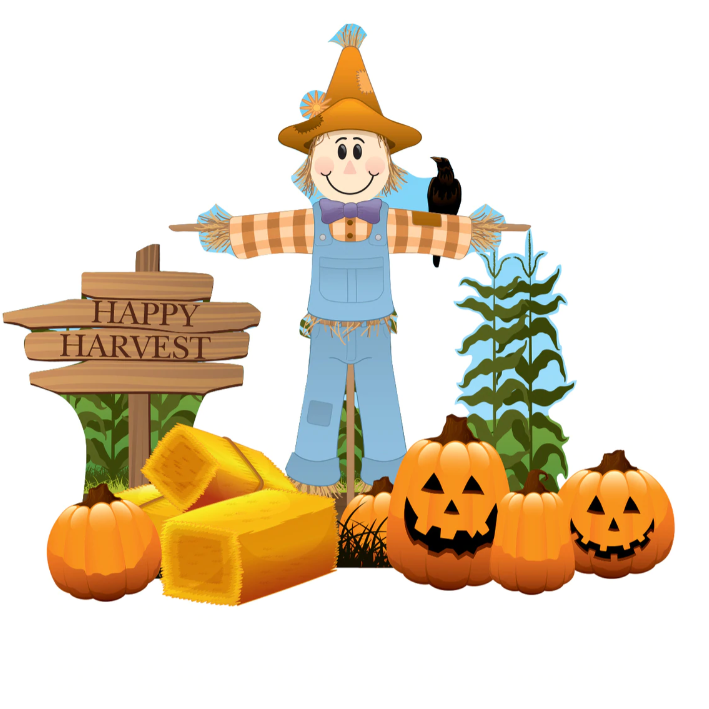 Scarecrow Theme Outdoor Cardboard Cutout Yard Sign