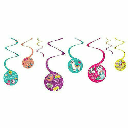 Selfie Celebration Swirl Decorations 8ct