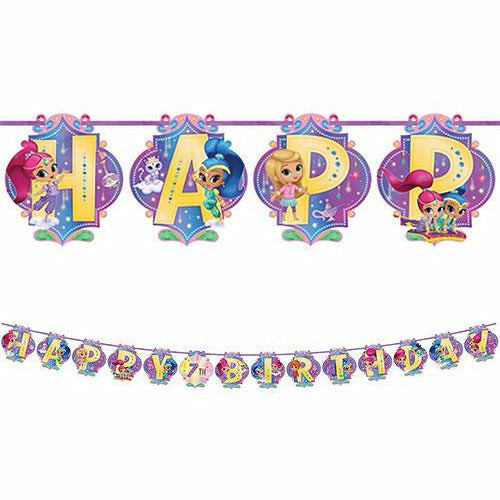 Shimmer and Shine Birthday Banner Kit
