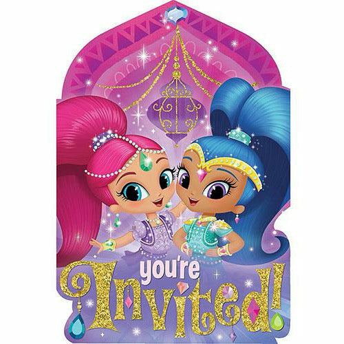 Shimmer and Shine Invitations 8ct
