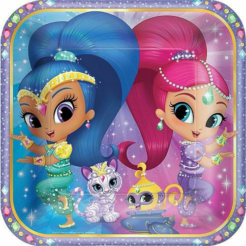 Shimmer and Shine Lunch Plates 8ct